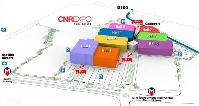 土耳其CNR EXPO展览中心平面图