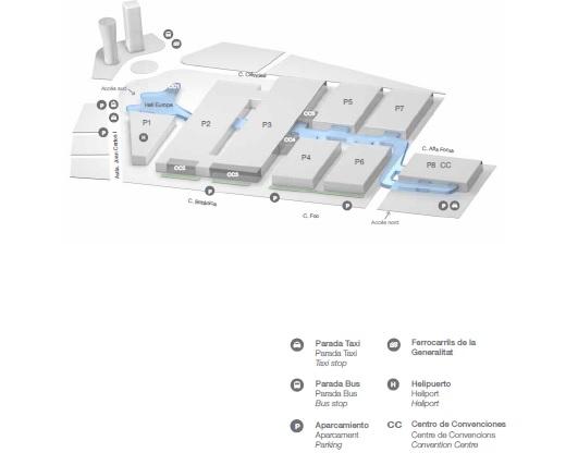 西班牙巴塞罗那会展中心平面图