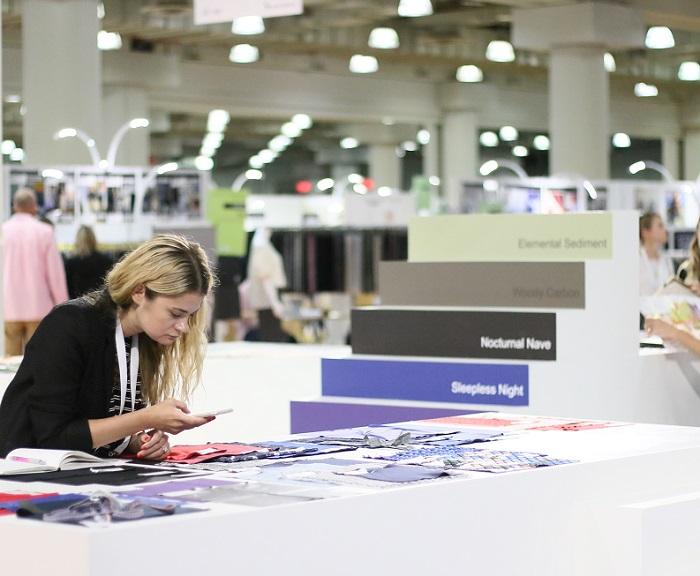 美国纽约国际春季服装面料采购展览会_现场照片