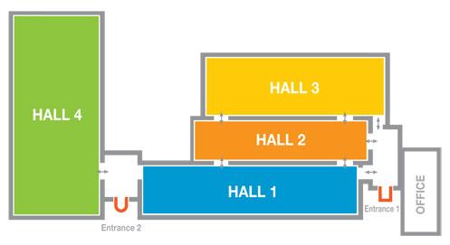 比利时安特卫普会展中心平面图