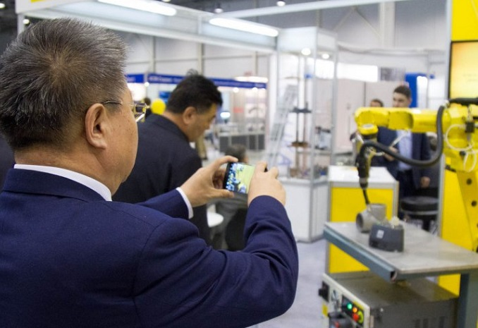 俄罗斯新西伯利亚国际金属加工焊接机械展览会_现场照片
