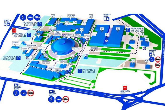 罗马尼亚布加勒斯特会展中心平面图