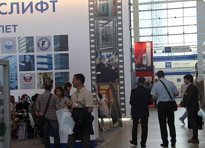 俄罗斯莫斯科国际电梯和吊装设备展览会_现场照片