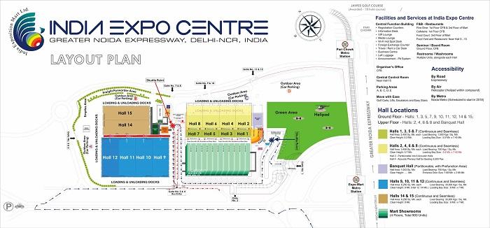 印度世博中心平面图