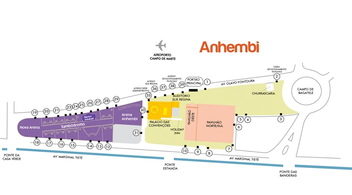 圣保罗安年比会展中心平面图
