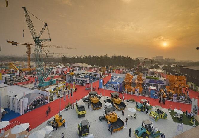印度新德里国际建筑建材机械、矿山机械及工程车辆宝马展览会_现场照片